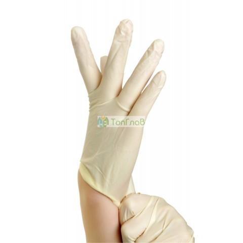 Перчатки латексные 1-ой хлоринации